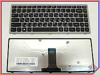 Клавиатура для ноутбука LENOVO IdeaPad G400, G400S, G405S, Z410 ( RU Black с Серой рамкой ). Оригинальная клавиатура. Русская раскладка.