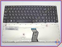 Клавиатура для ноутбука LENOVO IdeaPad V570, B570, B575, V580, B580, B590, V590, Z570, Z575 ( RU Black, Черная рамка ). OEM