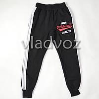 Спортивные штаны для мальчика 10 лет чёрные Турция