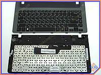 Клавиатура для ноутбука Samsung NP355V4 Series ( RU Black, Серая рамка, For Win8 ). Оригинальная клавиатура. Русская раскладка. Цвет Черный