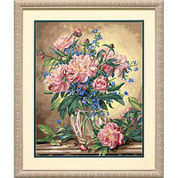 "91382 • Набор для рисования красками по номерам ""Пионы в вазе"" • ""Peony Floral"" Dimensions Paint Works"