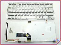 Клавиатура для ноутбука SONY VPC-SB series ( RU Silver без рамки с подсветкой ). Оригинальная клавиатура. Русская раскладка. Цвет серебристый