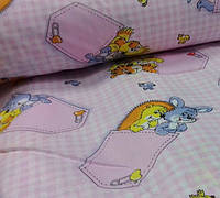Подростковое полуторное постельное белье простынь на резинке 90*200*25-Кармашки роз., бязь белорусь