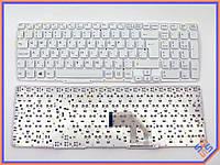 Клавиатура для ноутбука SONY SVE15, E15, E17, SVE15, SVE17  ( RU White без рамки Большой Enter!!!). Оригинальная клавиатура. Русская раскладка.