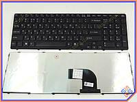 Клавиатура для ноутбука SONY SVE15, E15, E17, SVE15, SVE17  ( RU Black с рамкой). Оригинальная клавиатура. Русская раскладка.