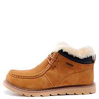 Зимние мужские ботинки Caterpillar Winter Boots Yellow, рыжие с мехом арт.1602