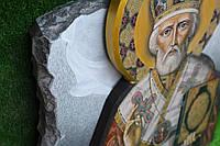 Икона Святого Николая на камне