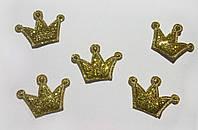 Корона из ткани 2,7*1,9 см (золото)