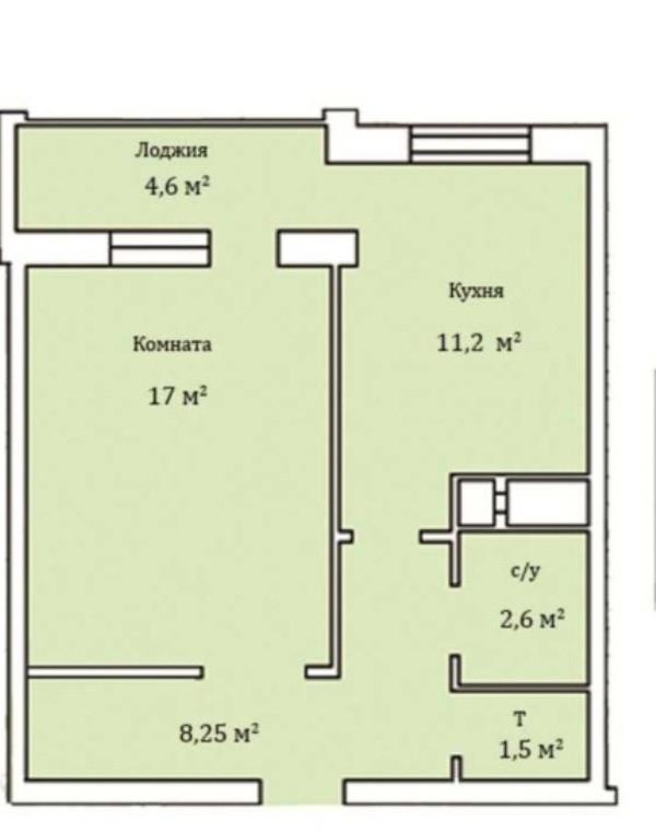 Продажа 1-но комнатной квартиры в новом сданном доме на улице Генерала Бочарова, город Одесса Суворовский район (посёлок Котовского)
