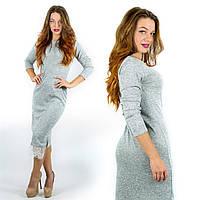 Длинное платье с кружевом 110см ангора