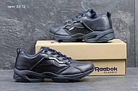 Мужские кроссовки  Reebok кожа, темно синие