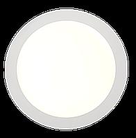 Потолочный светильник врезной 18 ватт круглый белый. 4200 К нейтральный свет