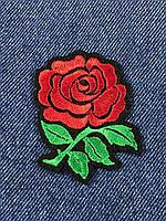Нашивка Роза черный фетр 60х60 мм