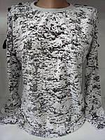 Батник со шнуровкой на плечах коттоновый женский , фото 1