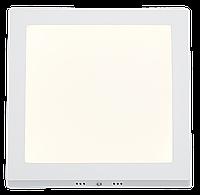 Потолочный светильник накладной 18 ватт квадратный белый. 4200 К нейтральный свет