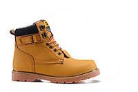 Зимние мужские ботинки Caterpillar Second Shift Boots Yellow, рыжие с мехом арт.1598