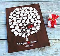 Дерево пожеланий (Размер рамки 50х60см, 60-65 сердечек), фото 1