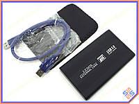 "Карман внешний USB3.0 для HDD 2.5"" SATA 9.5mm Алюминиевый BET-S254U3 Black. Поддержка дисков до 3Tb. В комплекте чехол, кабель USB3.0"