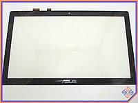 "Сенсорное стекло (тачскрин) для ноутбука ASUS VivoBook Q501, Q550, N550, N550J N550JA N550JV N550LF (5357S) 15.6"" Black"