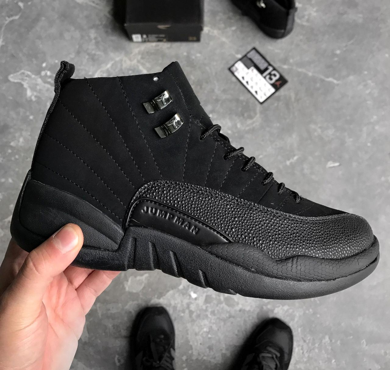 """Баскетбольные кроссовки Nike Air Jordan 12 Retro """"OVO"""" All Black"""