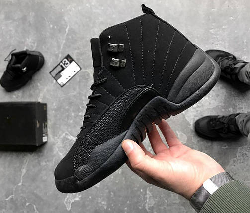 """Баскетбольные кроссовки Nike Air Jordan 12 Retro """"OVO"""" All Black, фото 2"""