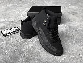 """Баскетбольные кроссовки Nike Air Jordan 12 Retro """"OVO"""" All Black, фото 3"""