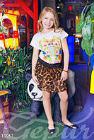 Юбка для девочки brown леопард - 10951[104]