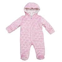 Комбинезон плюшевый для новорожденных малышек 62-74 (разные расцветки) 62