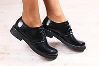 Женские туфли, кожаные на шнурках
