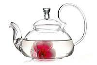 Чайник-заварник стеклянный с фильтром в носике 600 мл, фото 1