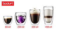 Стеклянные стаканы с двойными стенками  Bodum (реплика)