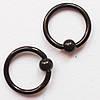 Кольцо сегментное, диаметр 8 мм с шариком 3 мм. Сталь 316L, титановое покрытие.