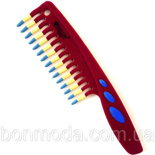 Расческа для волос Salon Professional антистатик Бордовая
