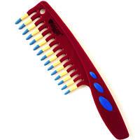 Расческа для волос Salon Professional антистатик Бордовая, фото 1