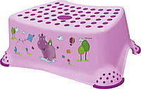 Детская подставка для ног Hippo Keeeper розовая