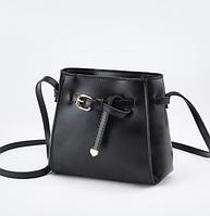 Небольшая женская черная сумка на плечо код 3-314 УЦЕНКА