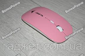 Беспроводная мышь, мышка розового цвета.