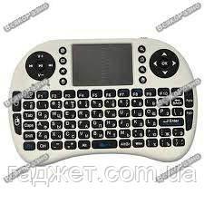 Беспроводная мини-qwerty-клавиатура с тачпадом и клавишами белого цвета