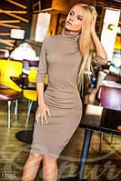 Облегающее трикотажное платье на флисе - 13965[L]