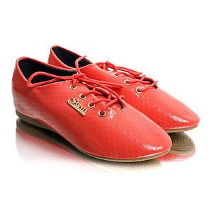 Туфли женские лак (на шнуровке) Q.T.Y.L.L XY-61