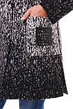 Пальто від виробника чорно-біле 54р, фото 4