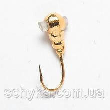 Мормышка вольфрамовая Salmo Личинка с отверстием и кембриком Ø4.0мм 8247K050