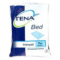 Одноразовые пеленки TENA Bed Plus, 60х60 см, 5 шт. 77100-/210482 ТМ: TENA