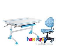 Стол трансформер и детское кресло SST5 FunDesk Sognare голубой Sognare_Blue