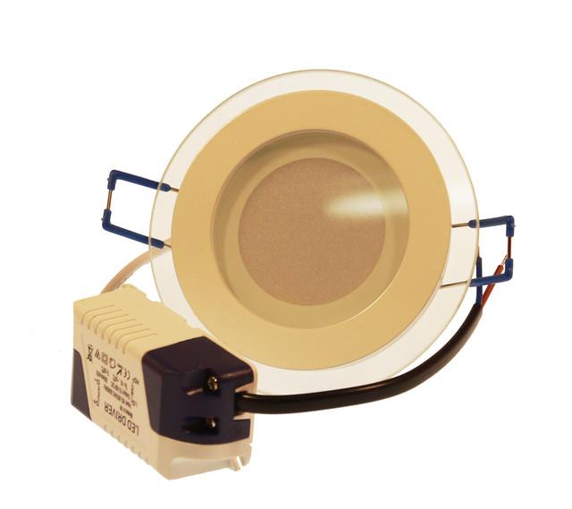 LED светильник Downlight 6W 4000K (стекло)