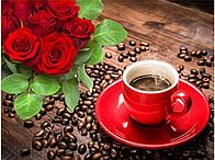 """Алмазная вышивка 30х20см размер изображения - набор """"Романтический кофе"""""""