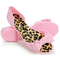 12-17 Розовые резиновые женские балетки с открытым носиком NGM-140020 38,37,40,39