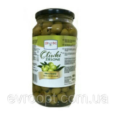 Оливки зеленые Helcom без косточки 230 гр.