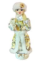 Новогодняя игрушка Снегурочка на подставке в шапке, 50 см