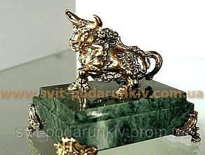 Эксклюзивная бронзовая статуэтка  Бык Телец, фото 2